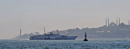 Het zeegezicht van Istanboel royalty-vrije stock afbeelding