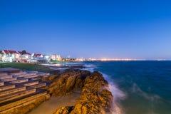 Het zeegezicht Zuid-Afrika van Port Elizabeth stock afbeelding