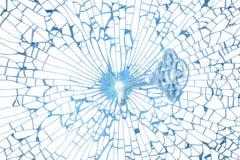 Het zeer belangrijke gat van het glas in breekbare hartvorm Stock Afbeeldingen