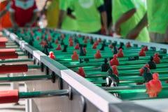 Het zeer Lange Spel van de Lijstvoetbal voor Vijftig Spelers gelijktijdig royalty-vrije stock afbeelding