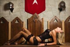 Het zeer mooie vrouwenflirt Stock Afbeelding
