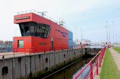 Het Zeevaartcentrum in Vlissingen, Nederland stock afbeeldingen
