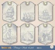 Het zeevaartetiket van Grunge Royalty-vrije Stock Afbeelding