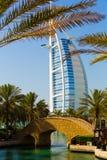 Het Zeil van het hoteloriëntatiepunt in Doubai royalty-vrije stock fotografie