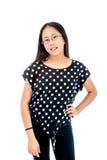 Het zekere Aziatische Tween Meisje Stellen Royalty-vrije Stock Afbeeldingen