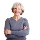 Het zekere hogere vrouw glimlachen royalty-vrije stock fotografie