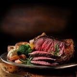 Het zeldzame Rundvlees van het Braadstuk stock foto's