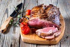 Het zeldzame Rundvlees van het Braadstuk Royalty-vrije Stock Foto