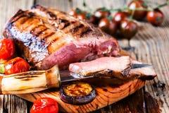 Het zeldzame Rundvlees van het Braadstuk royalty-vrije stock fotografie
