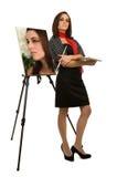 Het zelf-Portret van de kunstenaar Royalty-vrije Stock Fotografie