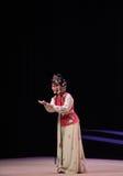 """Het zelfgenoegzame glimlach-Kunqu Opera """"the Westen Chamber† Stock Afbeeldingen"""