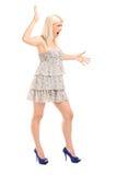 Het zenuwachtige blonde vrouwelijke schreeuwen Royalty-vrije Stock Foto's