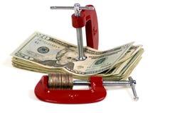 Het zetten van een Samendrukking op uw Geld 2 stock afbeeldingen