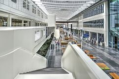 Het ziekenhuis binnenlandse straat Stock Foto