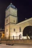 Het ziekenhuis DE Santiago bij nacht, Ubeda, Jaen, Spanje Royalty-vrije Stock Foto