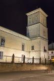 Het ziekenhuis DE Santiago bij nacht, Ubeda, Jaen, Spanje Royalty-vrije Stock Foto's