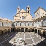 Het ziekenhuis DE Santiago Courtyard in cultureel erfgoed Úbeda van stock afbeelding