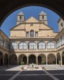 Het ziekenhuis DE Santiago Courtyard in cultureel erfgoed Úbeda van royalty-vrije stock afbeelding