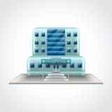 Het ziekenhuis die vectorillustratie bouwen vector illustratie