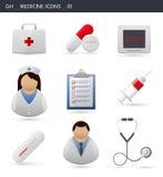 Het ziekenhuis en Medische Pictogrammen _01 Stock Afbeeldingen