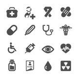 Het ziekenhuis en medische pictogramreeks Stock Afbeelding