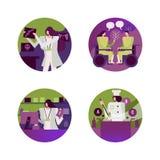 Het ziekenhuis en Medische scènepictogrammen royalty-vrije illustratie