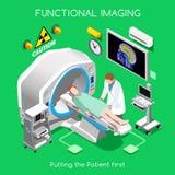 Het ziekenhuis 03 Isometrische Mensen Stock Afbeelding