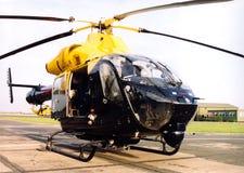Het ziekenhuis landend stootkussen van de politiehelikopter ob stock fotografie