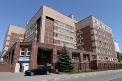 Het ziekenhuis nummer 1 voor veteranen van de oorlogen op Dubrovka in Moskou Stock Foto's