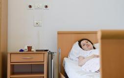 In het ziekenhuis opgenomen Royalty-vrije Stock Afbeeldingen