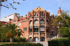 Het ziekenhuis Sant Pau in Barcelona royalty-vrije stock afbeelding
