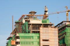 Het ziekenhuis van de bouw Royalty-vrije Stock Afbeeldingen