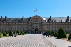 Het ziekenhuis van Invalides van Les in Parijs Stock Afbeeldingen