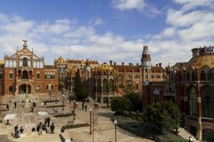 Het ziekenhuisde La Santa Creu i Sant Pau, in Barcelona Stock Afbeelding