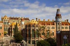 Het ziekenhuisde La Santa Creu i Sant Pau, in Barcelona Royalty-vrije Stock Afbeelding