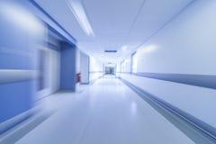 Het Ziekenhuisgang van het motieonduidelijke beeld Stock Foto's