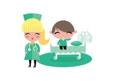 Het ziekenhuisillustratie van het kindjonge geitje Royalty-vrije Stock Foto's