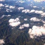 Het zien van bergen op lucht royalty-vrije stock afbeeldingen