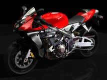 Het zijaanzicht van de sportmotorfiets Stock Afbeeldingen