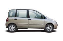Het zijaanzicht van Fiat Multipla op wit wordt geïsoleerd dat Stock Afbeeldingen