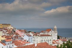 Het zijaanzicht van Lissabon Igreja DE Santo Estevao Royalty-vrije Stock Foto's