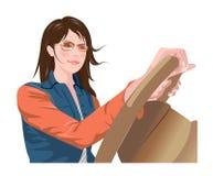 Zijaanzicht van vrouw vector illustratie