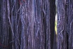 Het zijdegaren verfte van nature kleur Royalty-vrije Stock Foto's
