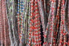 Het zijdegaren verfte van nature kleur Stock Foto's