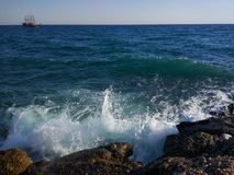 Het Zijstrand van Turkije Antalya Manavgat Stock Foto's