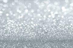 Het zilver schittert achtergrond Stock Foto