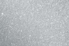 Het zilver schittert Achtergrondtextuur Stock Foto