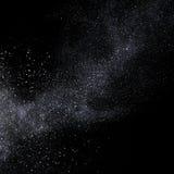 Het zilver schittert sterstof het vliegen Stock Fotografie