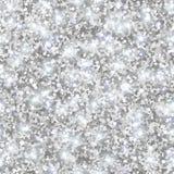 Het zilver schittert Textuur, Naadloos Lovertjespatroon stock illustratie