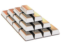 Het zilver van baren Stock Foto's